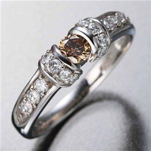 K18WGダイヤリング 指輪 ツーカラーリング 11号