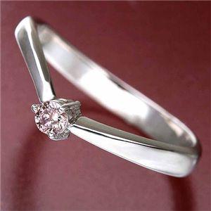 天然ピンクダイヤリング 指輪 0.07ct一粒リング17号