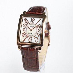 Forever(フォーエバー)  腕時計 1Pダイヤ FG-330PGWH ホワイト×ブラウン