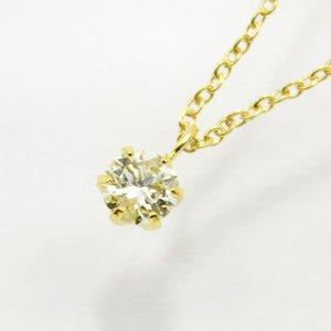 18金0.1ct6爪ブラウンダイヤモンド一粒石ペンダント