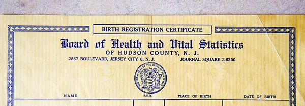 Here\u0027s why genealogists can\u0027t get birth certificates in Jersey City - birth certificate