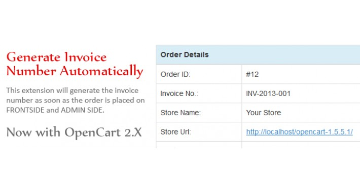 OpenCart - Generate Invoice Number Automatically
