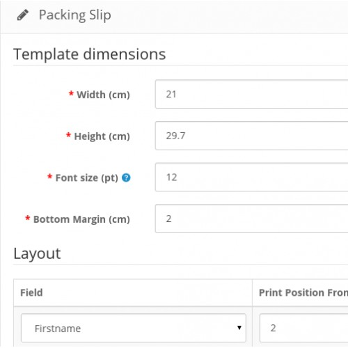 OpenCart - powerslip print packing slip or invoice on any preprinted - packing slip