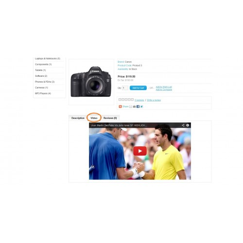OpenCart - Product Advertisement Video - Add Promo Video VQMod