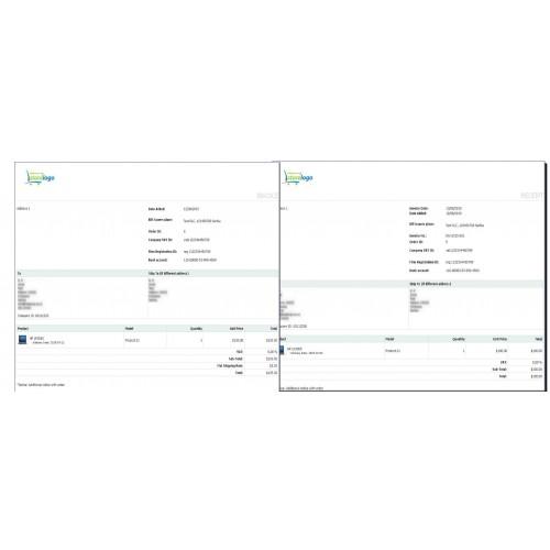 OpenCart - Simple invoice/billing, custom fields on receipt, bill