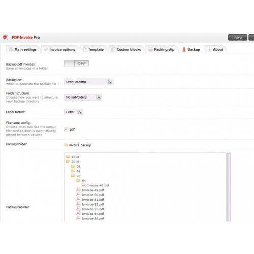 OpenCart - PDF Invoice Pro
