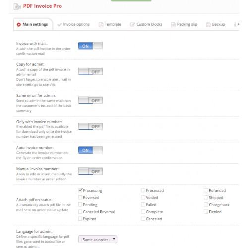 OpenCart - PDF Invoice Pro - pdf invoices