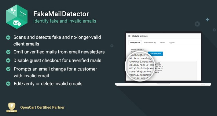 NEW FakeMailDetector - Identify fake and invalid emails - OpenCart