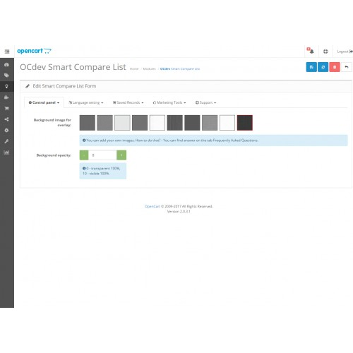 OpenCart - Smart Compare List