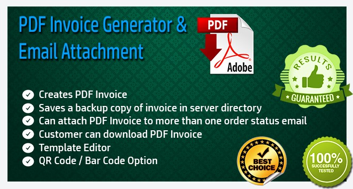 OpenCart - PDF Invoice Generator and Email Attachment - invoice pdf generator