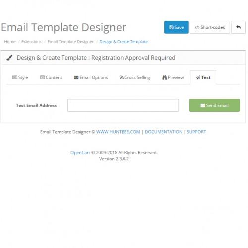 OpenCart - Email Template Designer PRO Pack + Newsletter Scheduler