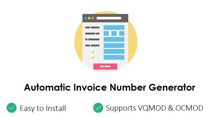 OpenCart - Automatic Invoice Number Generator - Auto Generate - invoice number generator