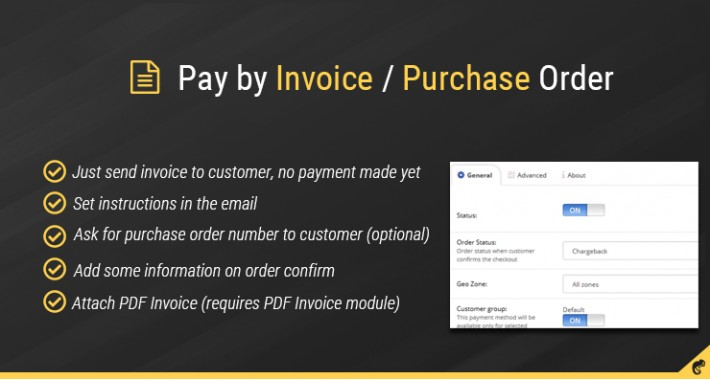OpenCart - Pay by Invoice / Purchase order