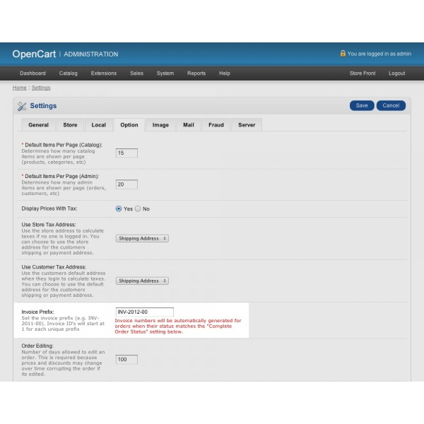 Generate Invoice Numbers - when invoice is generated