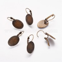 Wholesale Brass Leverback Earring Findings, French Style ...