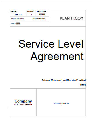 Service Level Agreement Template Software Software Templates - service level agreement template