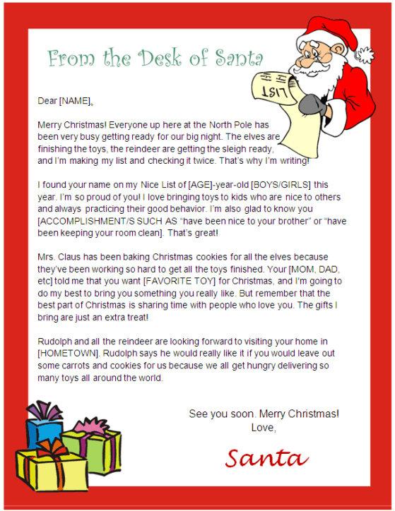 Santa Letter Template - Desk of Santa Design Other Files