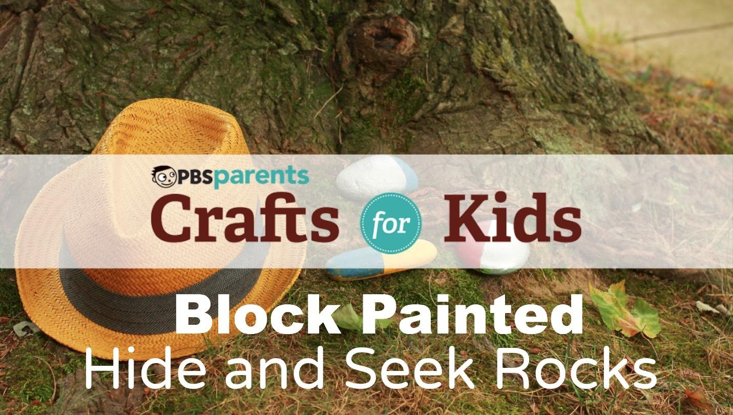 Hide And Seek Kids Block Painted Hide And Seek Rocks Season 1 Episode 10 Crafts