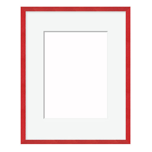 Metal Picture Frame with Mat 12FT Red Metal Frame PictureFrames