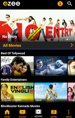 Ozee Movie app for Android