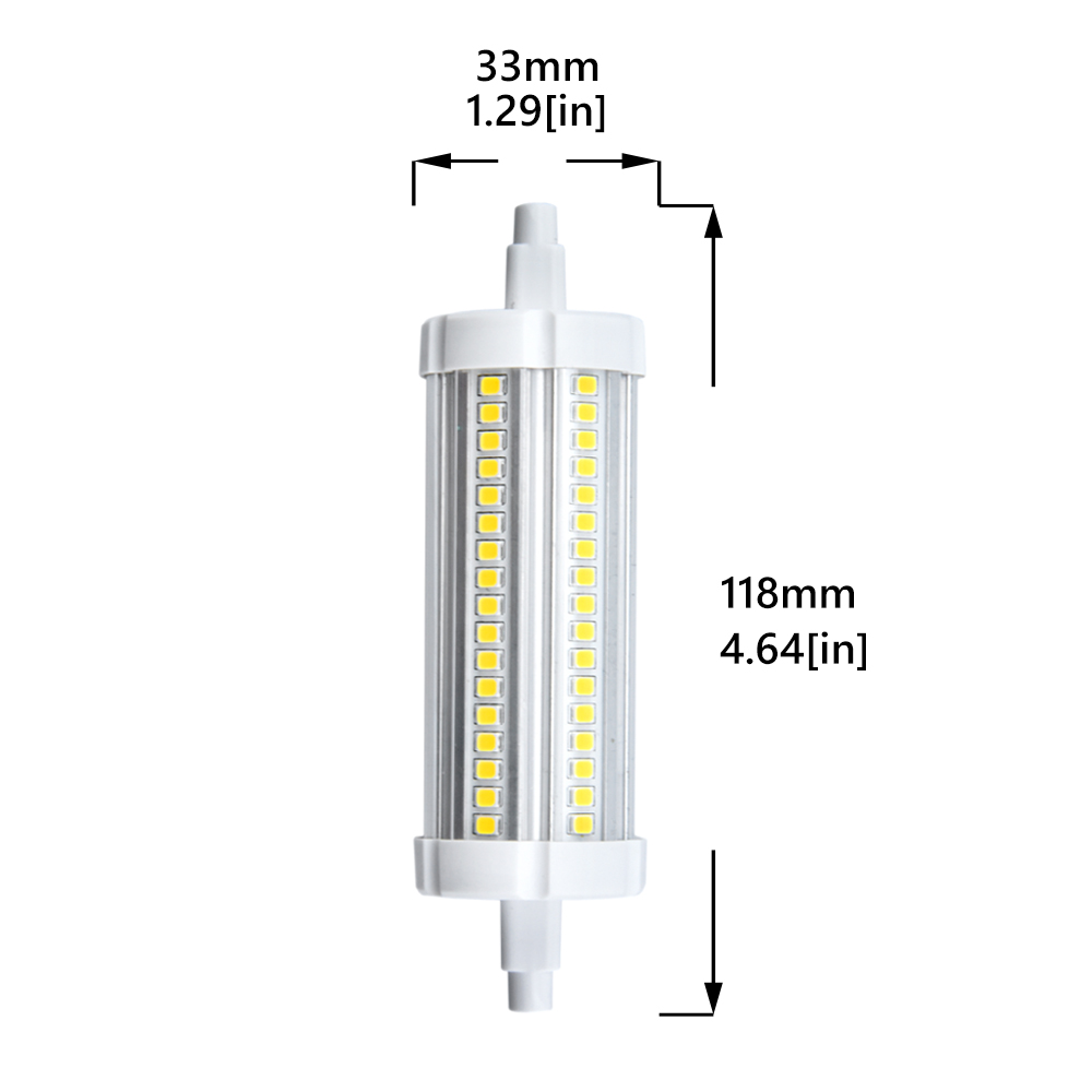 Led R7s Dimmbar Dimmbar R7s Led Birne Ø15 78mm 118mm 5w 10w Double Ended J Type Led Leuchtmittel