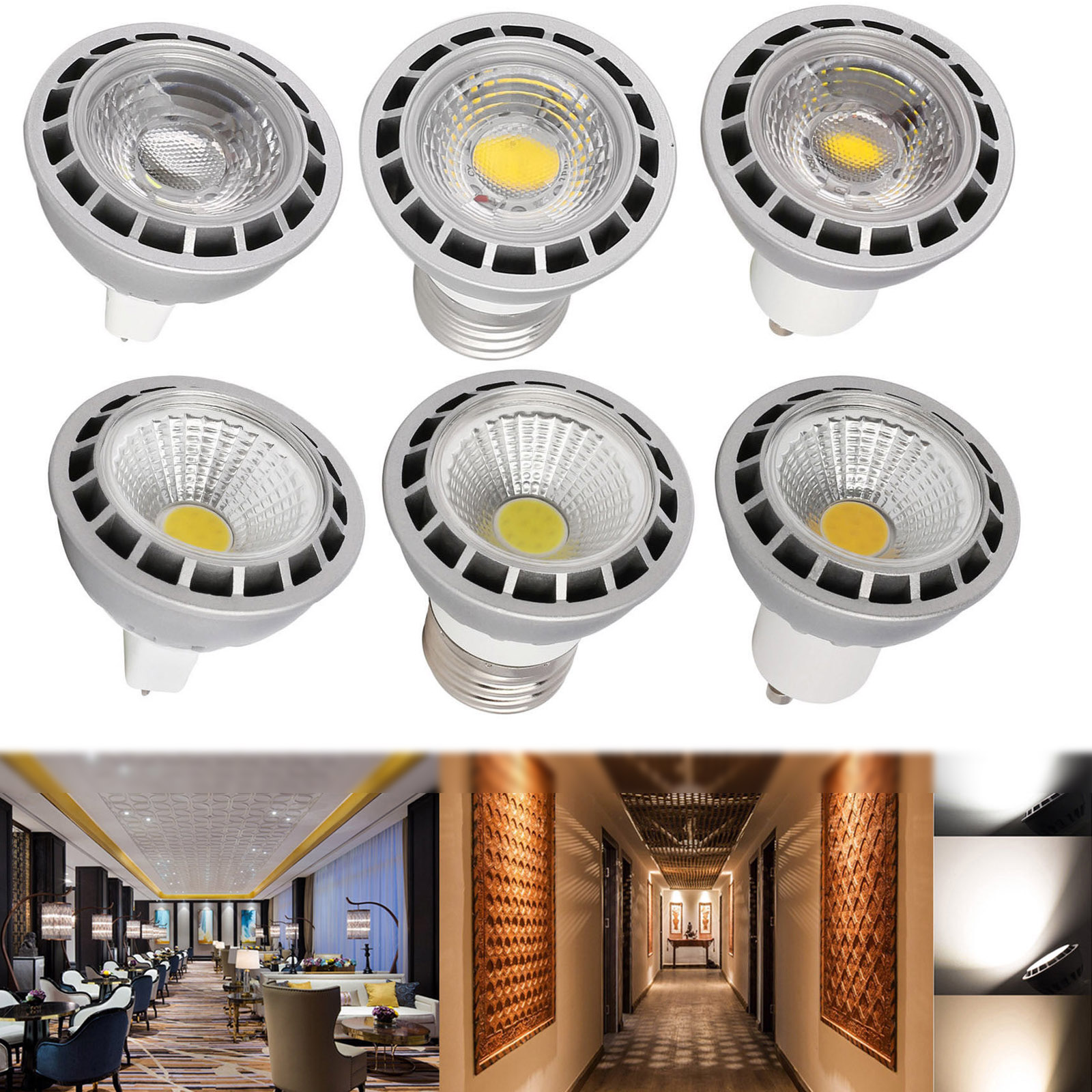 Led Spot Gu10 Details About Dimmable Cob Led Spot Light Bulbs 15 Watt Gu10 Mr16 E26 E27 Bulb High Power Lamp