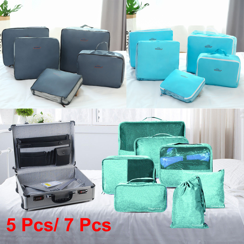 Travel Luggage Organiser 5 7x Packing Cube Hand Luggage Organiser Travel Compression