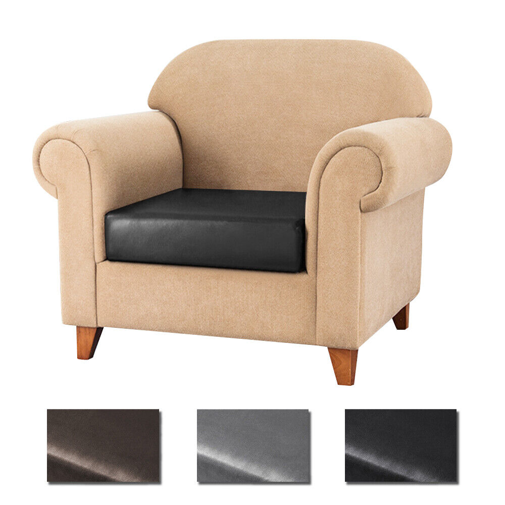 Stretch Pu Leather Sofa Seat Cushion Covers Chair Couch Loveseat Slipcovers Ebay