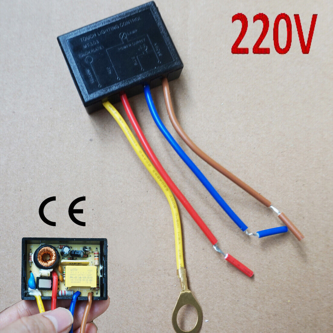 220v Touch Light Lamp Dimmer Switch Control Module Sensor Halogen Tungsten Led Ebay