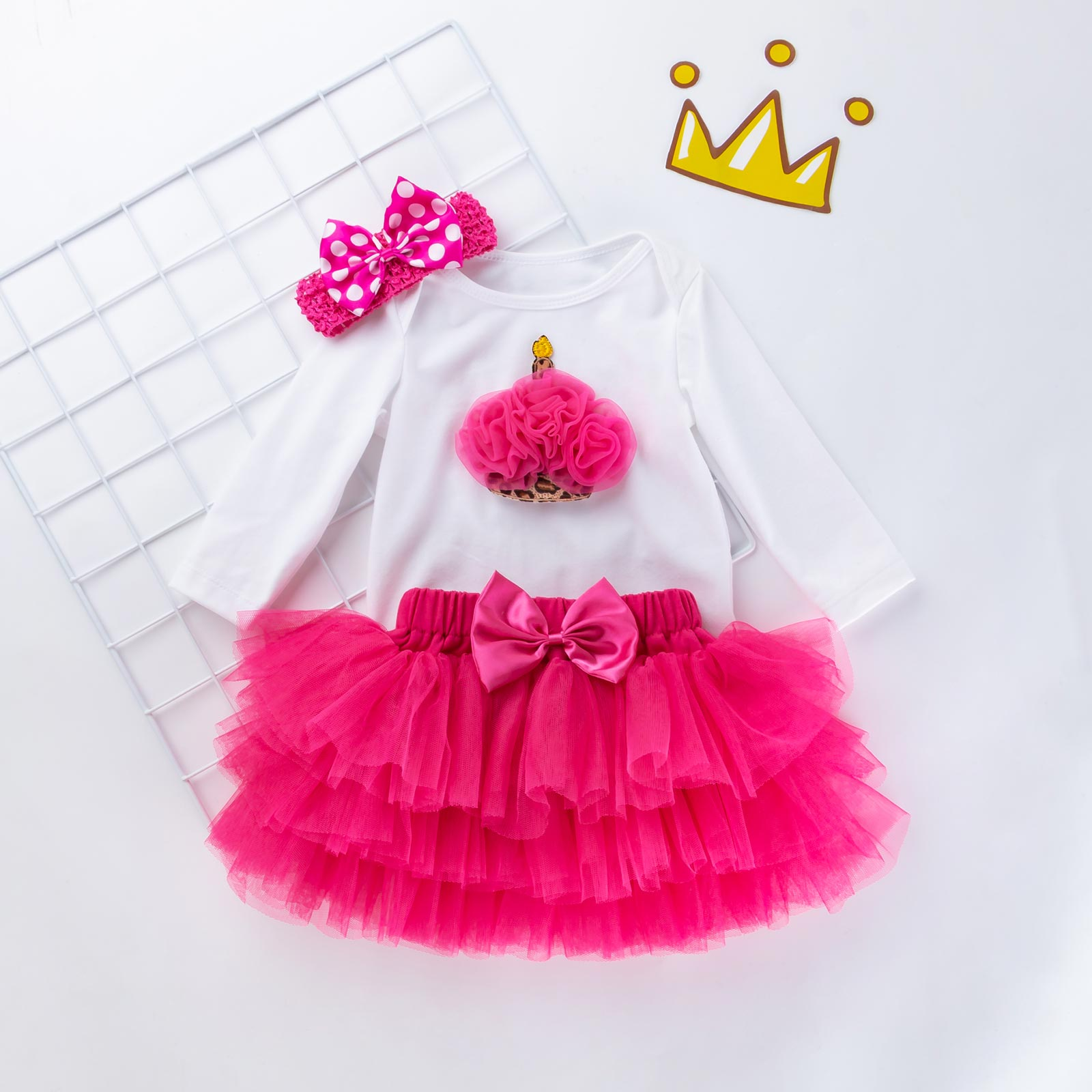 Newborn Infant Outfits Details About Baby Girls 1st Birthday Romper Skirt Outfits Newborn Infant Dress Clothes Set