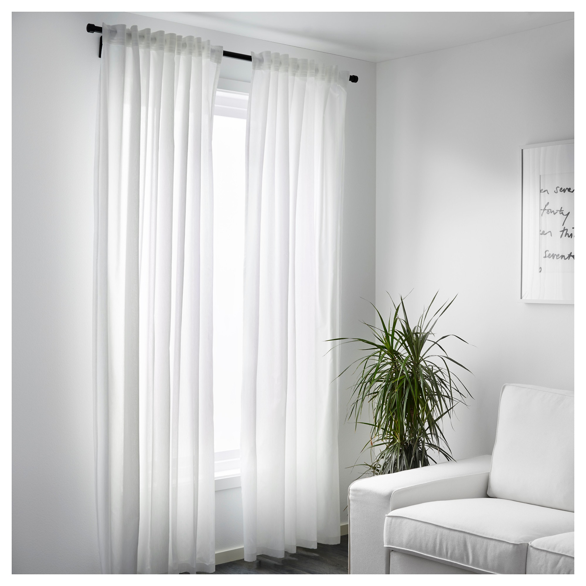 Window Blinds Ikea Details About 1 Pair Ikea White Curtains Vivan Bedroom Living Room Window Blinds 250x145cm