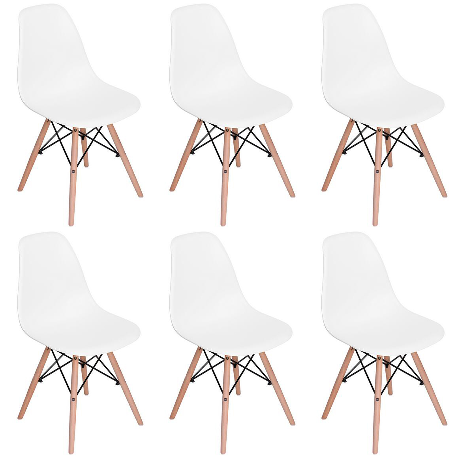 Eames Eiffel Details About Retro Eames Eiffel Dsw Daw Dining Chair Cafe Kitchen Pp Beech Wood 2 4 6pcs