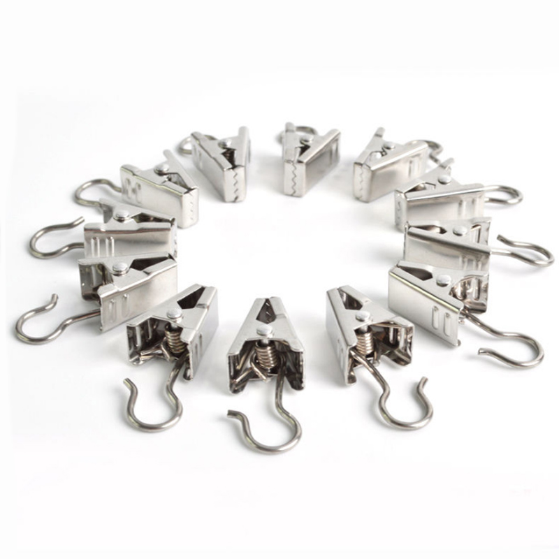 20 Pcs Small Metal Heavy Duty Curtain Clips W Hook Silver Color Hooks 18 3mm Diy Ebay - Vorhang Clips Metal