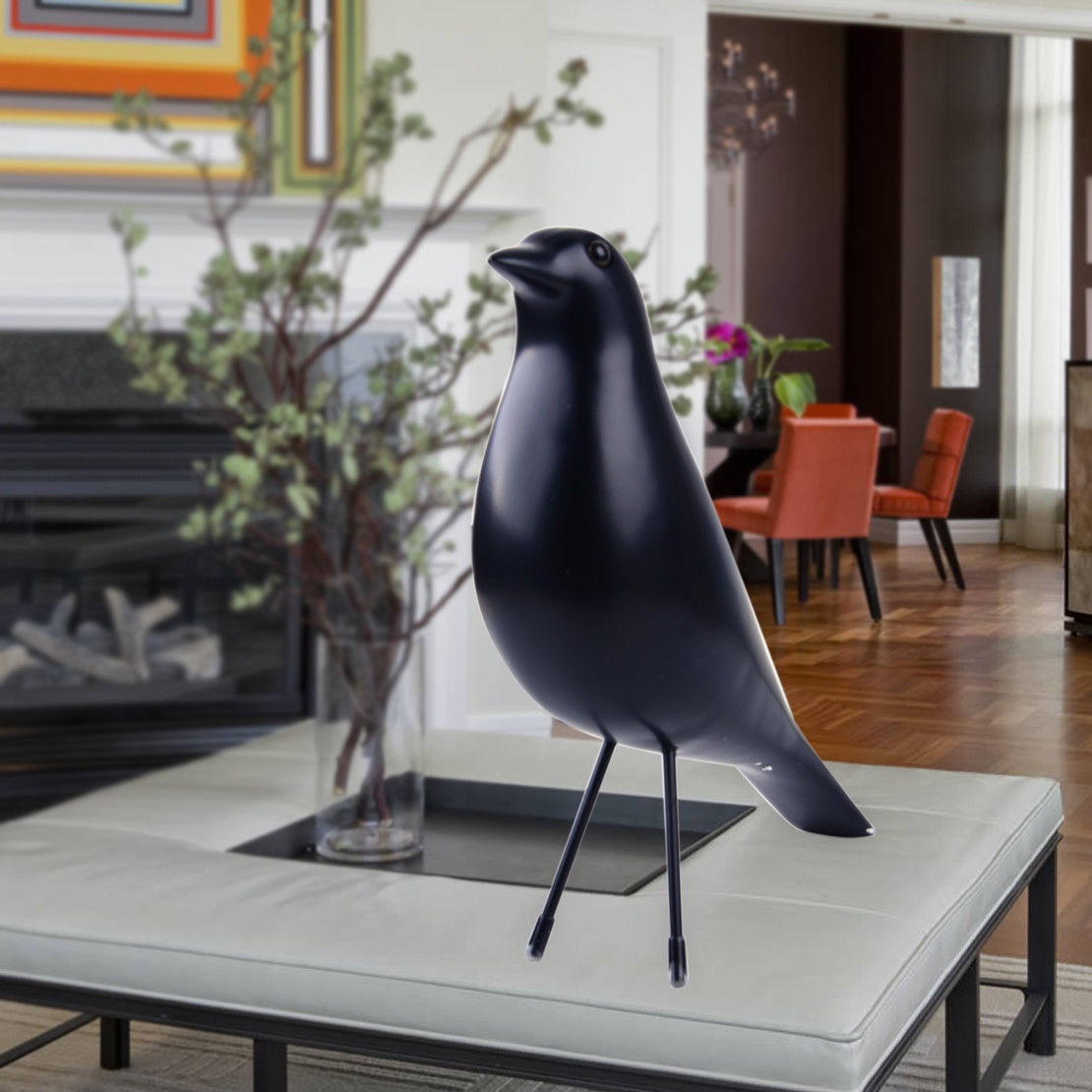 Eames House Bird Details About Retro Black Eames House Bird Home Decor Desk Ornament Resin Office Pigeon Gift