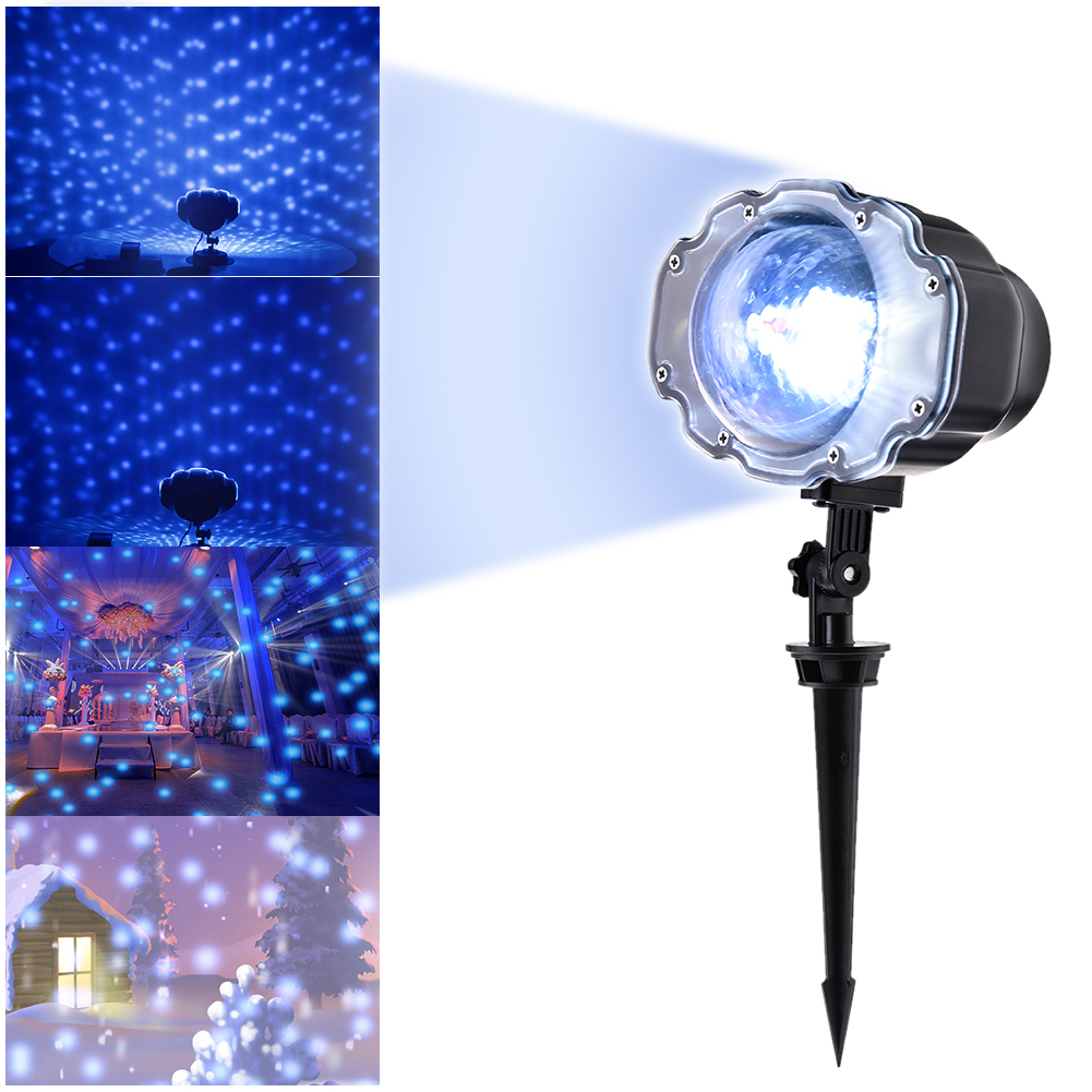 Light Projector Details About Snow Falling Outdoor Moving Projector Laser Led Garden Xmas Stage Lighting
