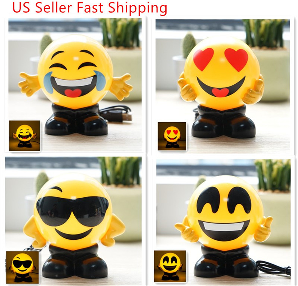 Sensorlamp Action Details About Emoji Cute Usb Charging Foggy Warm Lights Bed Lamp Night Lights Birthday Gift Us