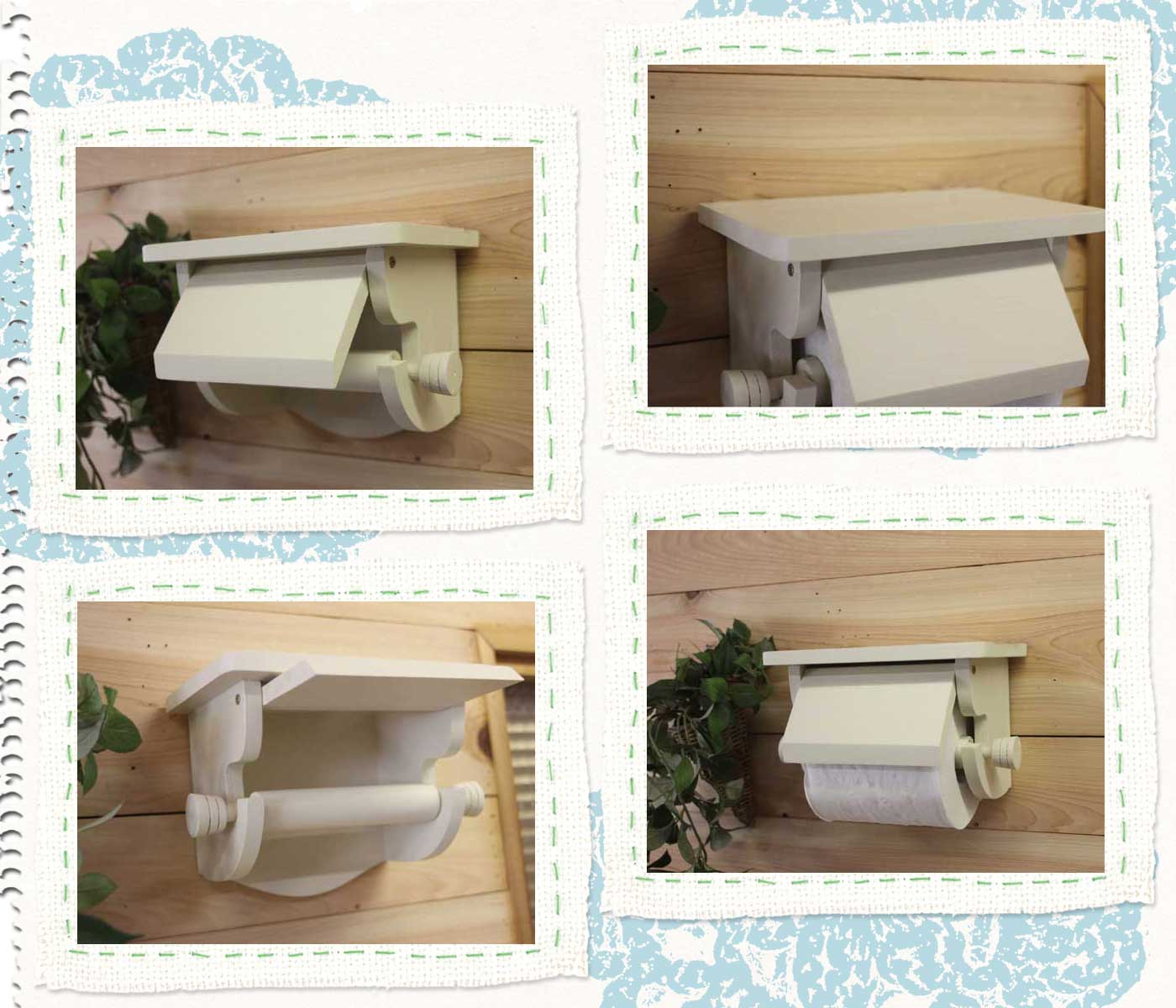 Covered Toilet Paper Storage Angels Dust Rakuten Global Market Antique White Holding