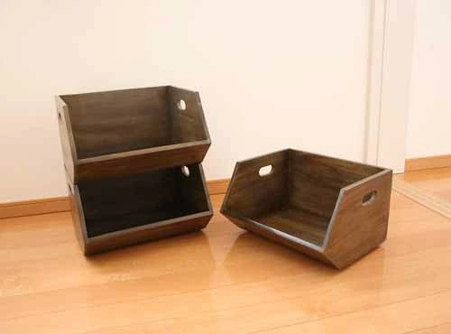 Fiscu Rakuten Global Market Crate Storage Box Wood