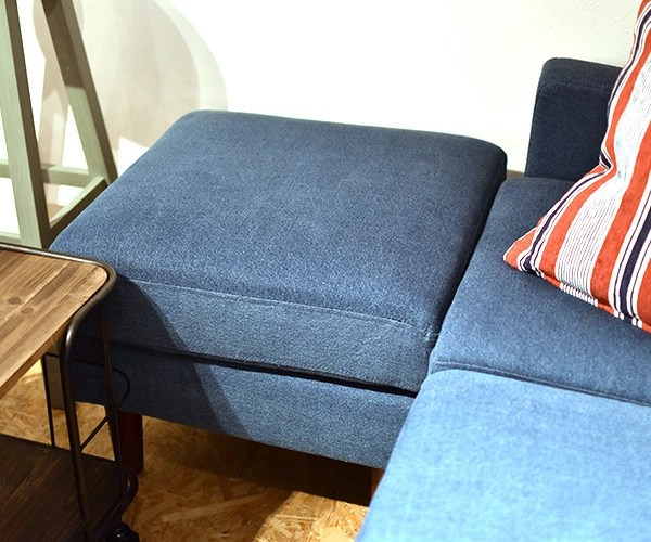 Rattan Lounge Vegas Denim Fabric Sofa Nyle Denim Blue Fabric Sofa Bed With