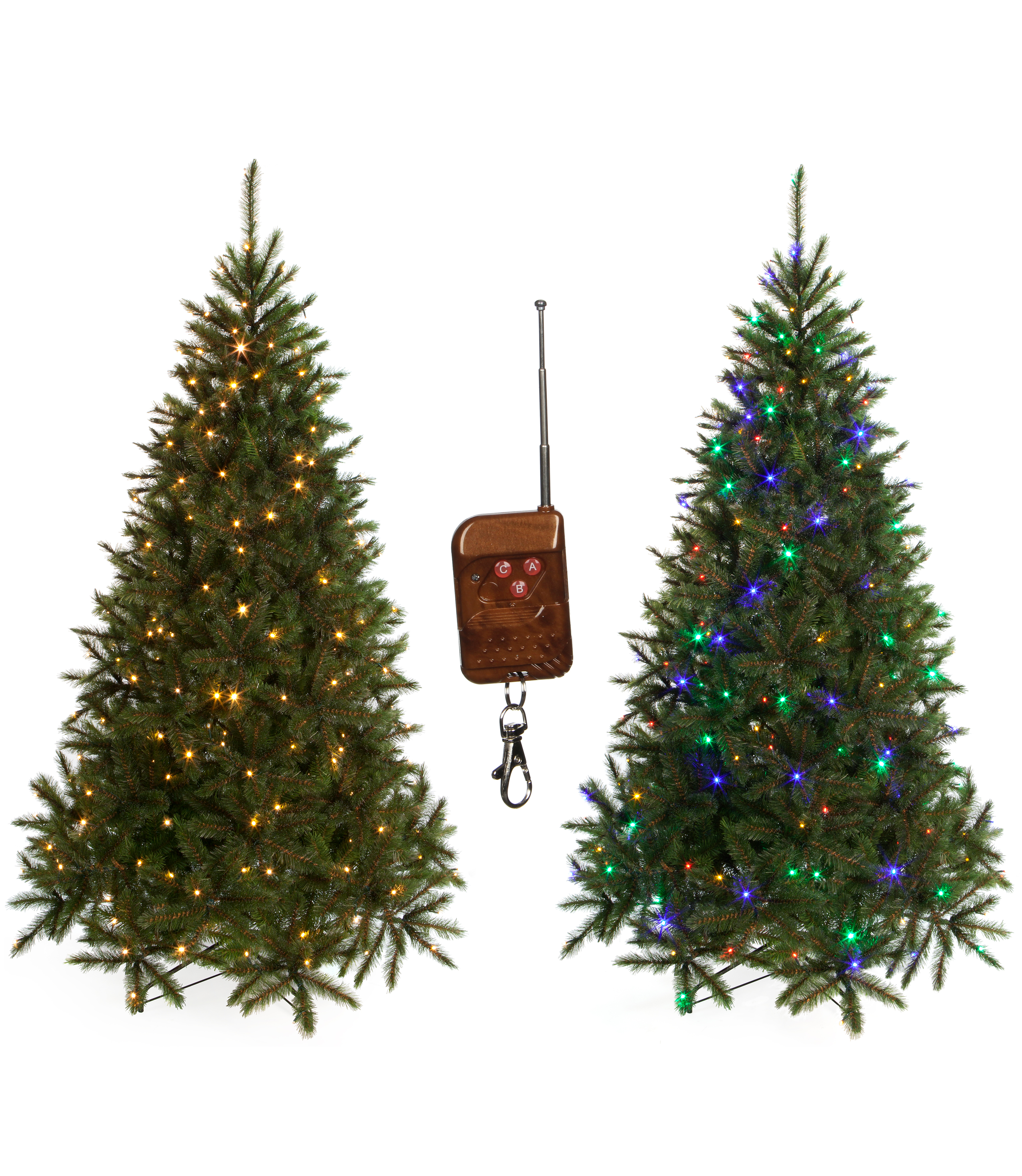 Kunstkerstboom Met Gekleurde Verlichting Triumph Tree Led Bristlecone Fir Colour Switch 185