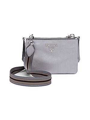 Prada - Diagramme Leather Card Case - saks