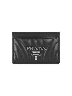 Shoptagr Diagramme Leather Card Case by Prada