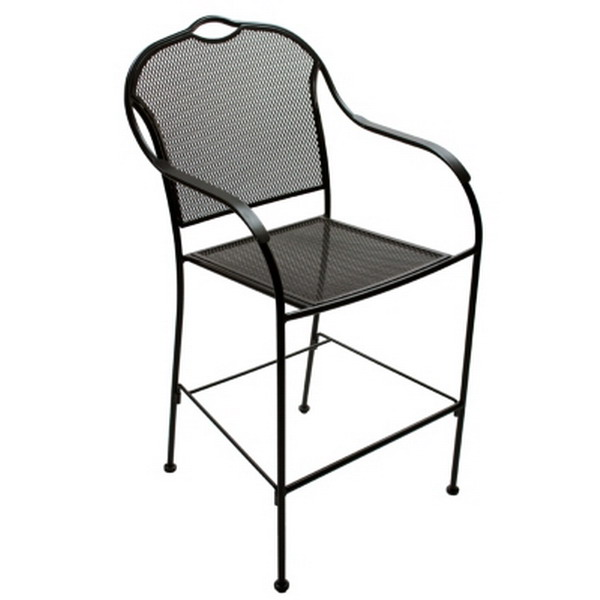 New 2 Pack Iron Bar Height Patio Outdoor Bistro Chairs