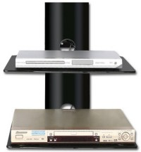 New TV Wall Mount Shelving Black Glass Home Theatre Game ...