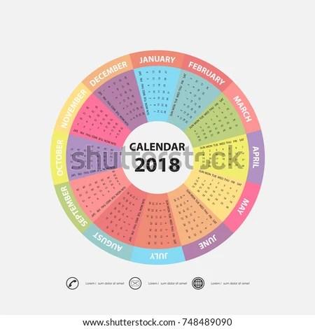 Circular Calendar Template Choice Image - Template Design Free Download - circular calendar