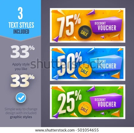 discount banner design voucher template - Download Free Vector Art - discount voucher design