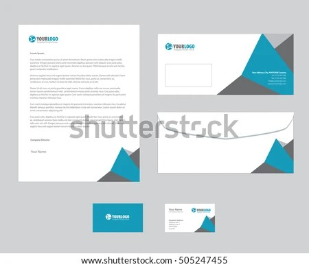 corporate stationery template design EZ Canvas