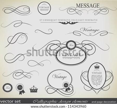 Decorative Vector Calligraphic Design Elements - Download Free