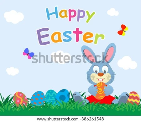 Modern Colorful Easter Eggs Vector - Download Free Vector Art, Stock