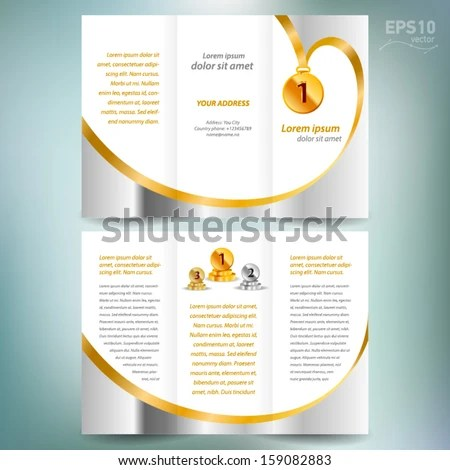 stock-vector-brochure-design-template-vector-folder-leaflet-award - free leaflet template word